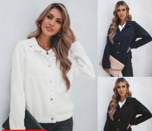 (ebay price:$26.92)Autumn & Winter Woolen Loose Diamond Button Short Jacket