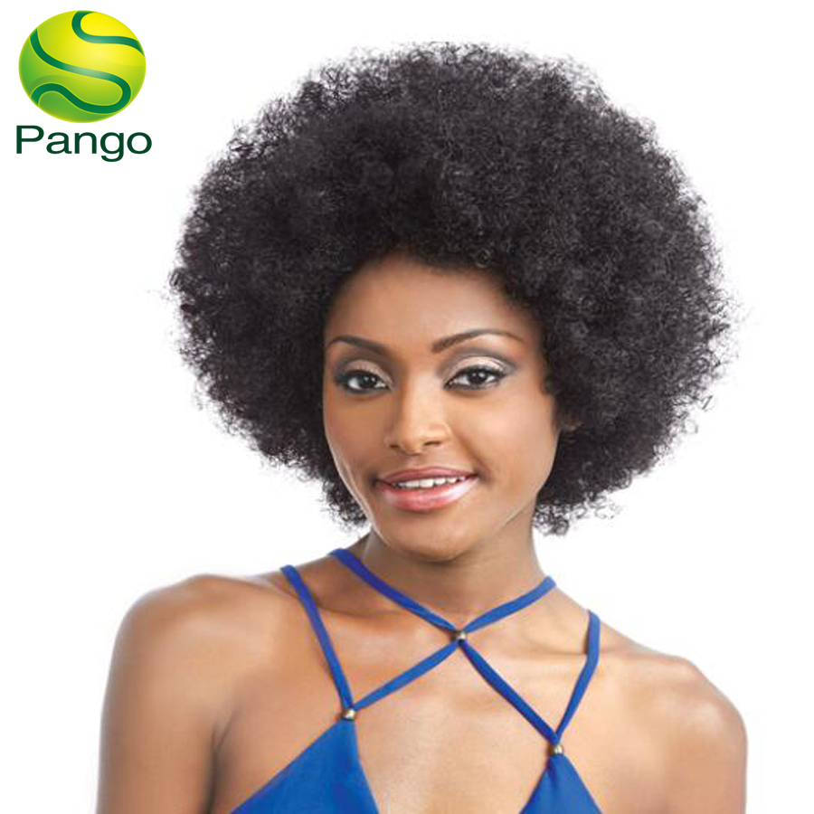 medium afro curly synthetic hair women wig average brown