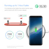 Dubhe1 Wireless Charging Pad, 7.5W Fixed for iPhone 8 / 8Plus, 10W for Sumsamg and other Qi-compatible Devices - Black