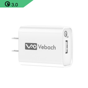 Vebach USB Wall Charger Single Port, UL Certified Quick Charge 3.0 18W AC Power Charging Adapter Plug Compatible with iPhone,iPad,Samsung,LG,Huawei,HTC,Google Nexus and More