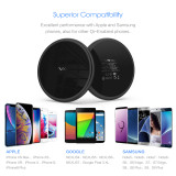 Fast Wireless Charger, Vebach Dubhe1s Qi Certified Wireless Charging Pad 7.5W Compatible iPhone, 10W Compatible Samsung-Black