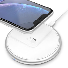 Fast Wireless Charger, Vebach Dubhe1s Qi Certified Wireless Charging Pad 7.5W Compatible iPhone, 10W Compatible Samsung-Silver
