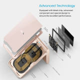 Wireless Charging Stand Vebach Merak 1, Qi Certified Fast Wireless Charger fixed 7.5W for iPhone Xs / XS Max / XR / X /8 / 8Plus, Max 10W for Galaxy S10 / S10 Plus / S10E / S9 and all Qi-Enable Devices, Aluminum Frame
