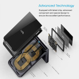 Wireless Charging Stand Vebach Merak1, Qi Certified Fast Wireless Charger fixed 7.5W for iPhone Xs / XS Max / XR / X /8 / 8Plus, Max 10W for Galaxy S10 / S10 Plus / S10E / S9 and all Qi-Enable Devices, Aluminum Frame