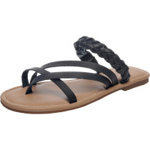 Women's Wide Width Slide Sandals - Slip On Flat Braided Strap Open Toe Summer Shoes.