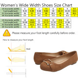 Aukusor Women's Wide Width Ballet Flat - Cozy Round Toe Slip On Flat Shoes.