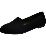 Aukusor Women's Wide Width Flat Shoes - Comfortable Slip On Pointed Toe Ballet Flats.