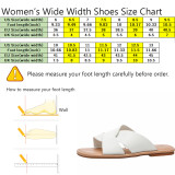 Aukusor Wide Width Summer Flat Sandals - Slides Flip Flop Cozy Memory Foam Insole Skid-Proof Slides.