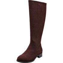 Aukusor Women's Wide Width Knee High Boots - Wide Calf Chunky Low Heel Elastic Knit Material Side Zipper Winter Boots.