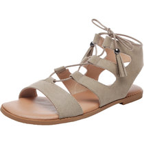 Women's Wide Width Flat Sandals - Gladiator Lace up Open Toe Suede Summer Shoes.