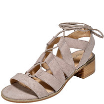 Women's Wide Width Heeled Sandals - Lace up Gladiator Low Heel Ankle Strap Summer Shoes.