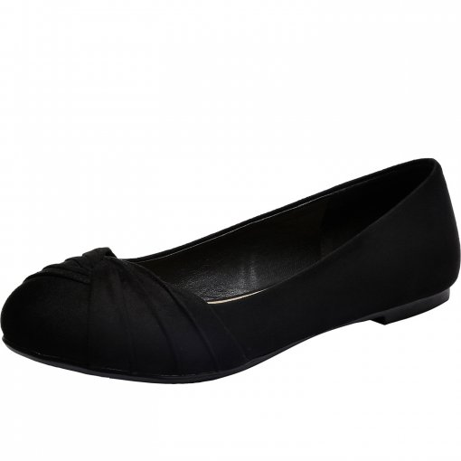 Aukusor Women's Wide Width Flat Shoes - Slip On Pointed Toe Ballet Flats.