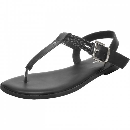Women's Wide Width Flat Sandals - T-Strap Flip Flops Thong Flexible Buckle Summer Shoes.