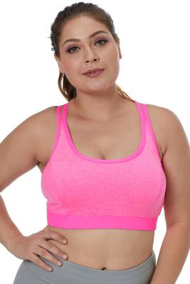 Rosy Double Straps Heathered Sports Bra
