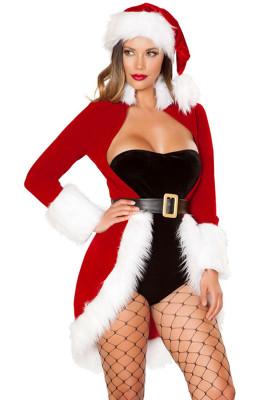 Christmas Queen Luxe Fur Trim 4pcs Costume
