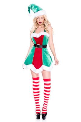 Green North Pole Elf Christmas Costume