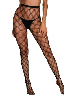 Crisscross Netted Pattern Pantyhose