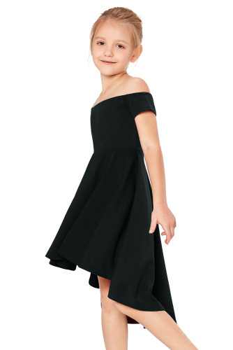 Black All The Rage Skater Dress for Little Girls TZ22036