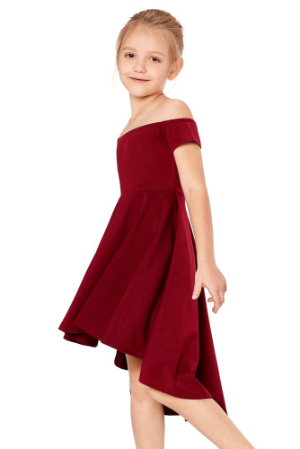 Red All The Rage Skater Dress for Little Girls TZ22036