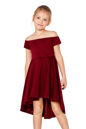 Red All The Rage Skater Dress for Little Girls