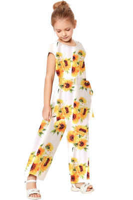 White Sunflower Jumpsuit