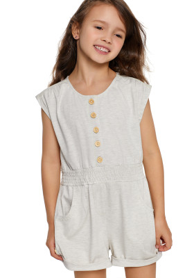 White Little Girls Cassie Romper