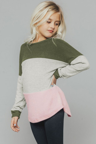 Green The Callie Colorblock Sweater