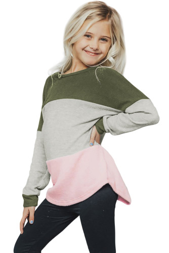 Green The Callie Colorblock Sweater TZ25105