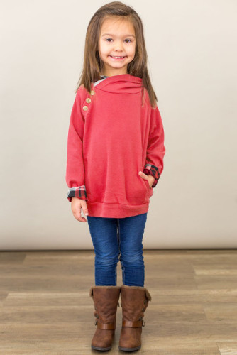 Red Toddlers Double Hooded Sweatshirt