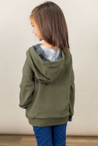 Green Toddlers Double Hooded Sweatshirt TZ25110