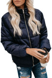 Blue Mammoth Pocketed Puffer Jacket