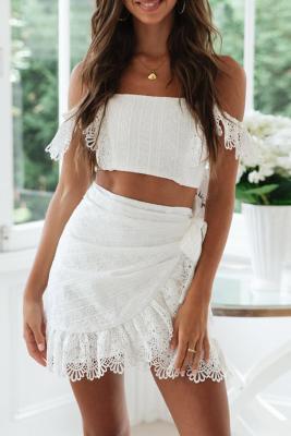 Petunia Crop Top and Skirt Set