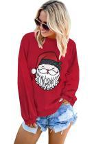 Cute Santa Clause Pattern Pullover Sweatshirt
