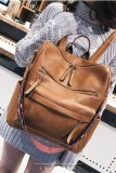 Brown Large Capacity Backpack
