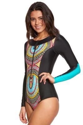 Sky Blue Aztec Print One-piece Swimwear