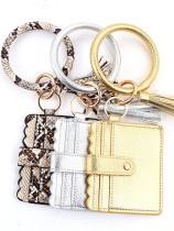 Leopard PU Bracelet Purse with Tassel (MOQ 5pcs in mixed colors)