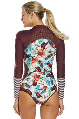 Siamese Printed Surf Suit LC412053