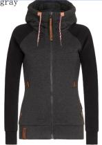 Black Zip Up Plus Size Coat with Hood