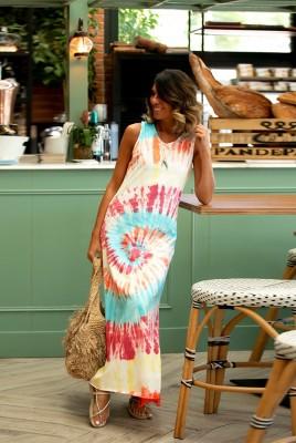 Colorful Tie Dye Maxi Dress