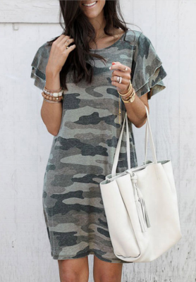 Army Green Camouflage Dress