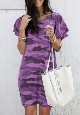 Purple Camouflage Dress