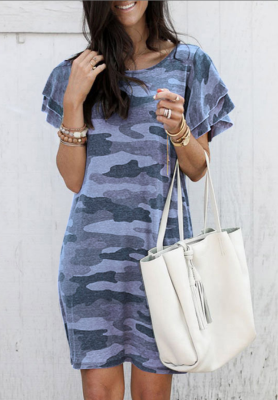 Blue Camouflage Dress
