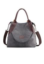 Grey Large Capacity Canvas Bag