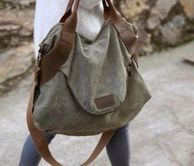 Army Green Large Capacity Shoulder Bags Handbag