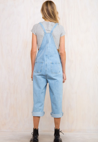 Blue Denim Overalls with Button XC565