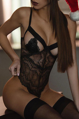Black Lace Cut out Teddy