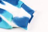 Blue Tie Dye Kangroo Pocket Sweatshirt with Hoods