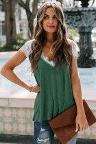 Green Lace Knit Tank