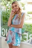 Swingy Tank and Ruffled Shorts Loungewear