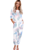 Multi-colored Tie Dye 2 Piece Set Full Length Sportswear